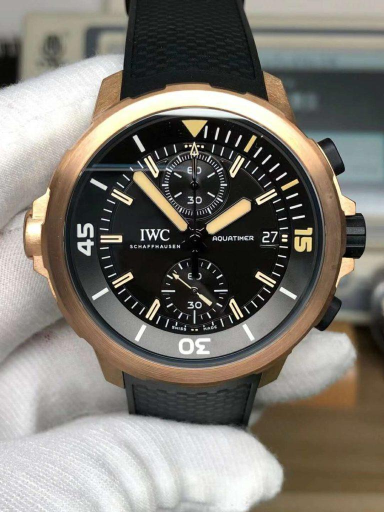 Replica IWC Aquatimer Bronzo Black Dial