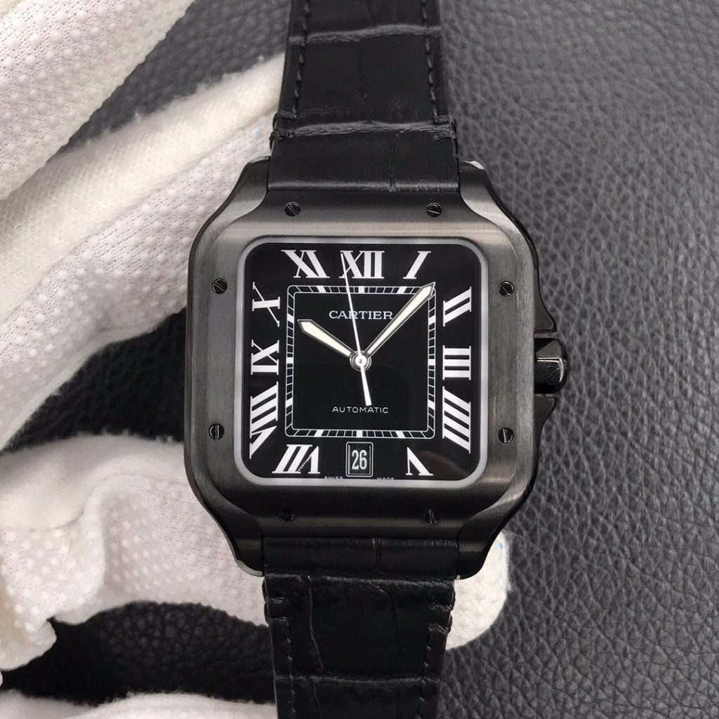 Cartier Santos Black Watch Replica
