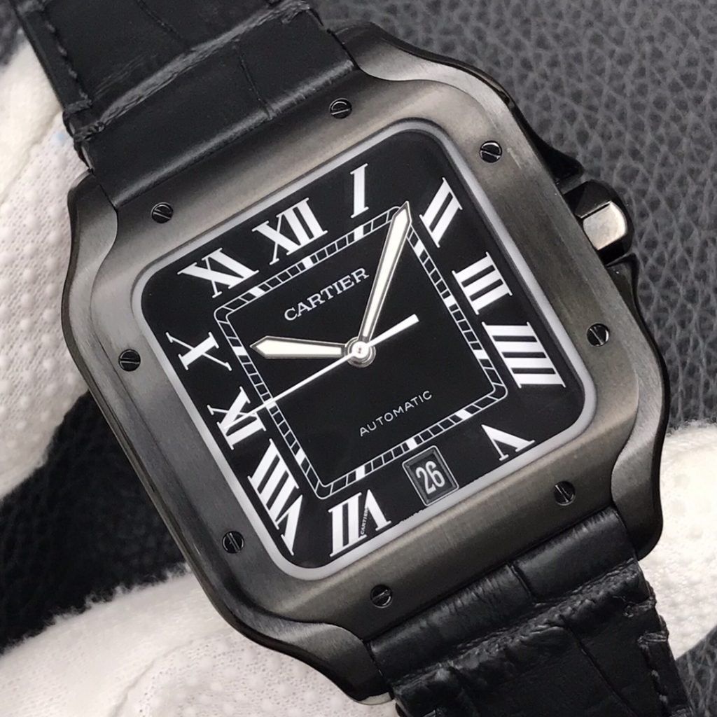 Replica Cartier Santos Black Dial