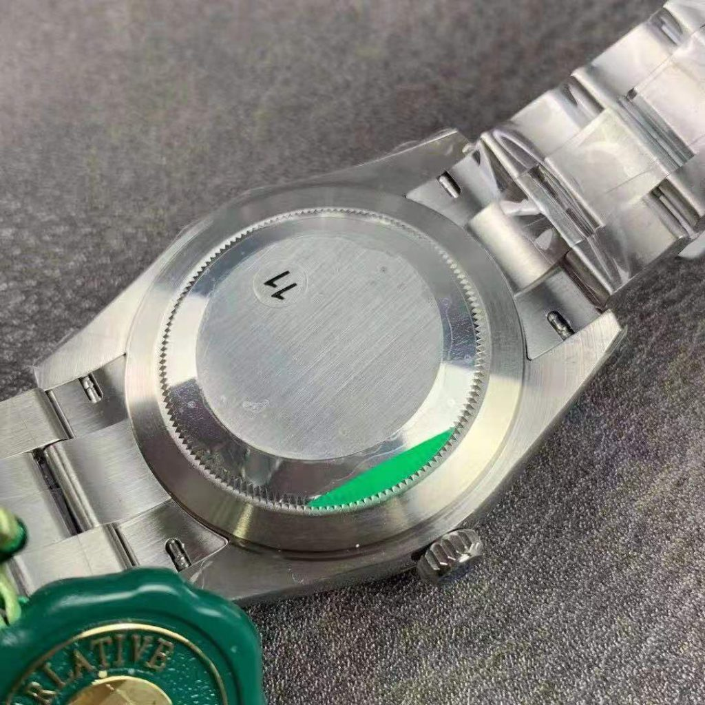 Rolex Datejust Silver Case Back
