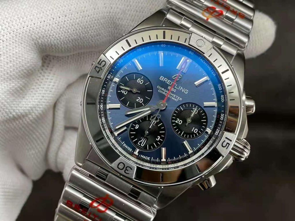 Replica Breitling Chronomat B01 Blue Dial