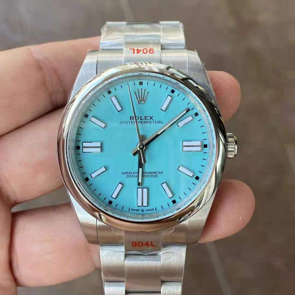 Replica Rolex Oyster Perpetual 41mm Tiffany Blue