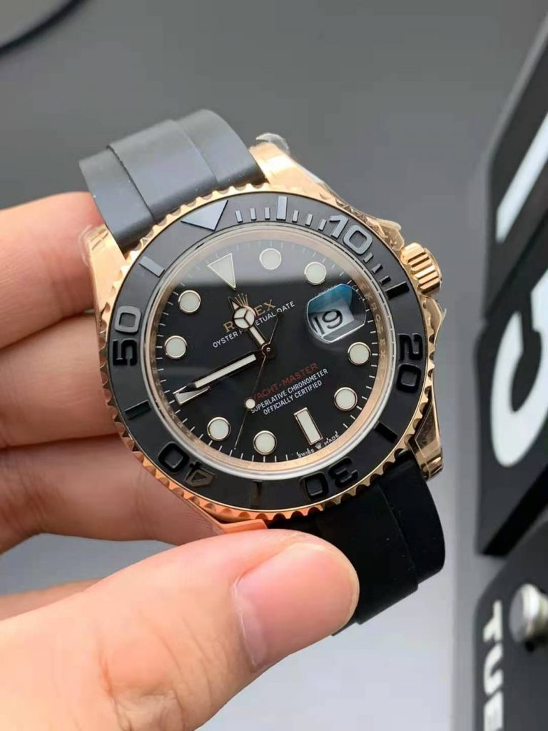 Replica Rolex YachtMaster 116655 Rose Gold