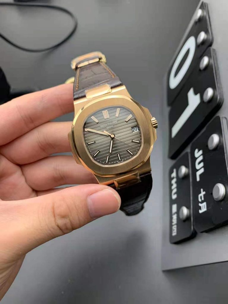 Replica Patek Philippe Nautilus 5711 with Brown Leather Strap