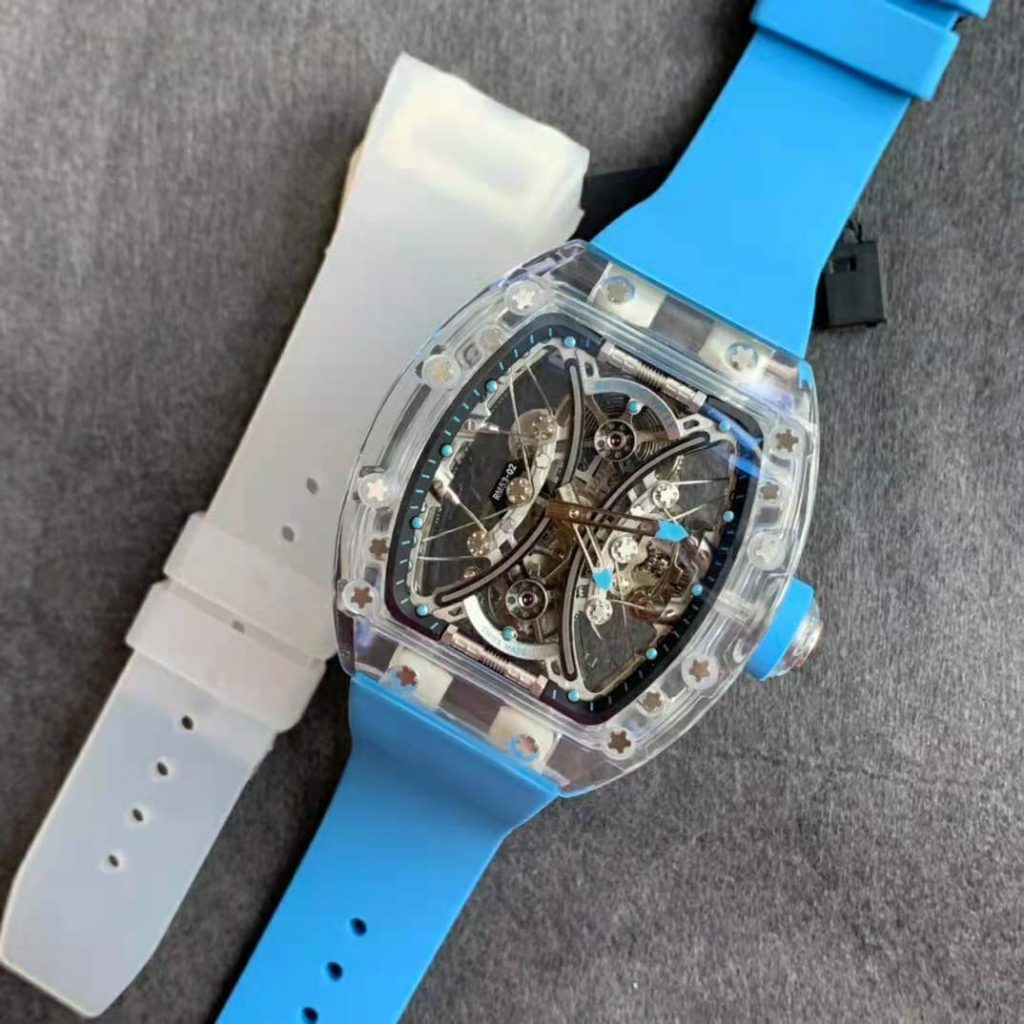 Replica Richard Mille RM 053-02 with Transparent Rubber Strap