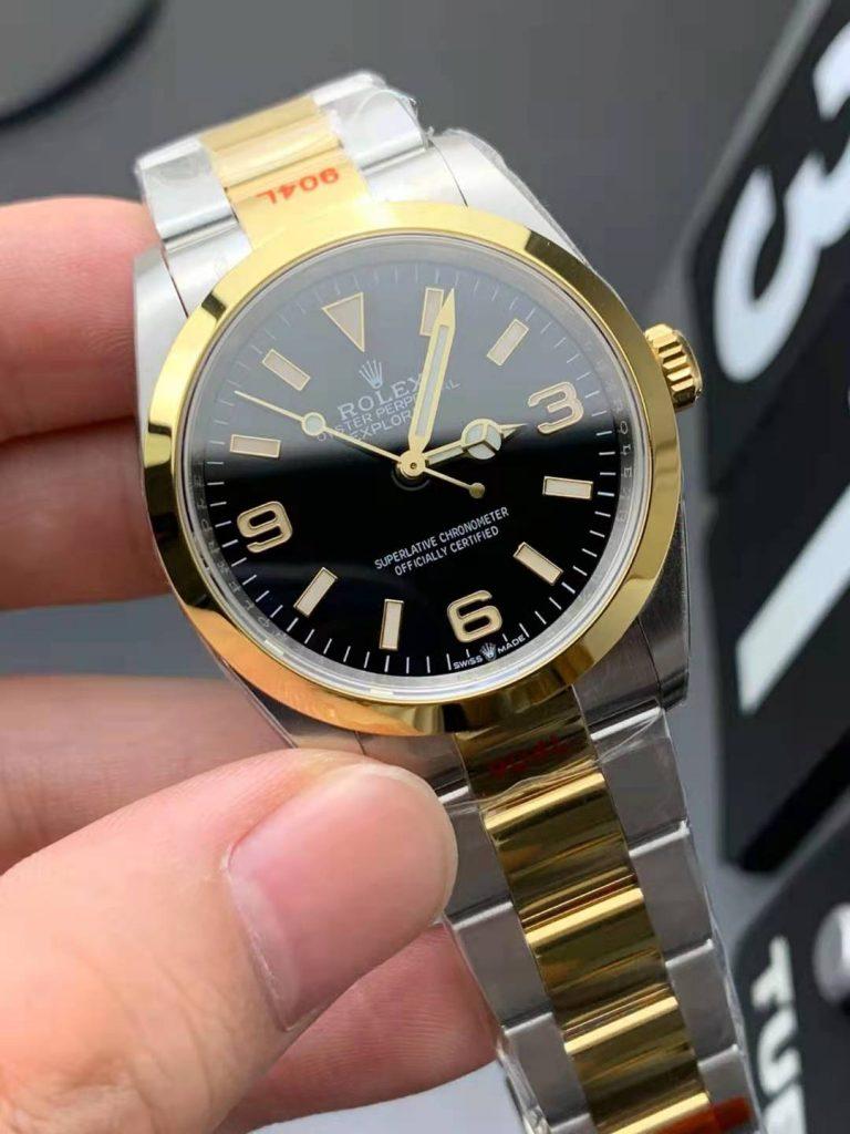 Rolex Explorer I 124273 Two Tone Replica