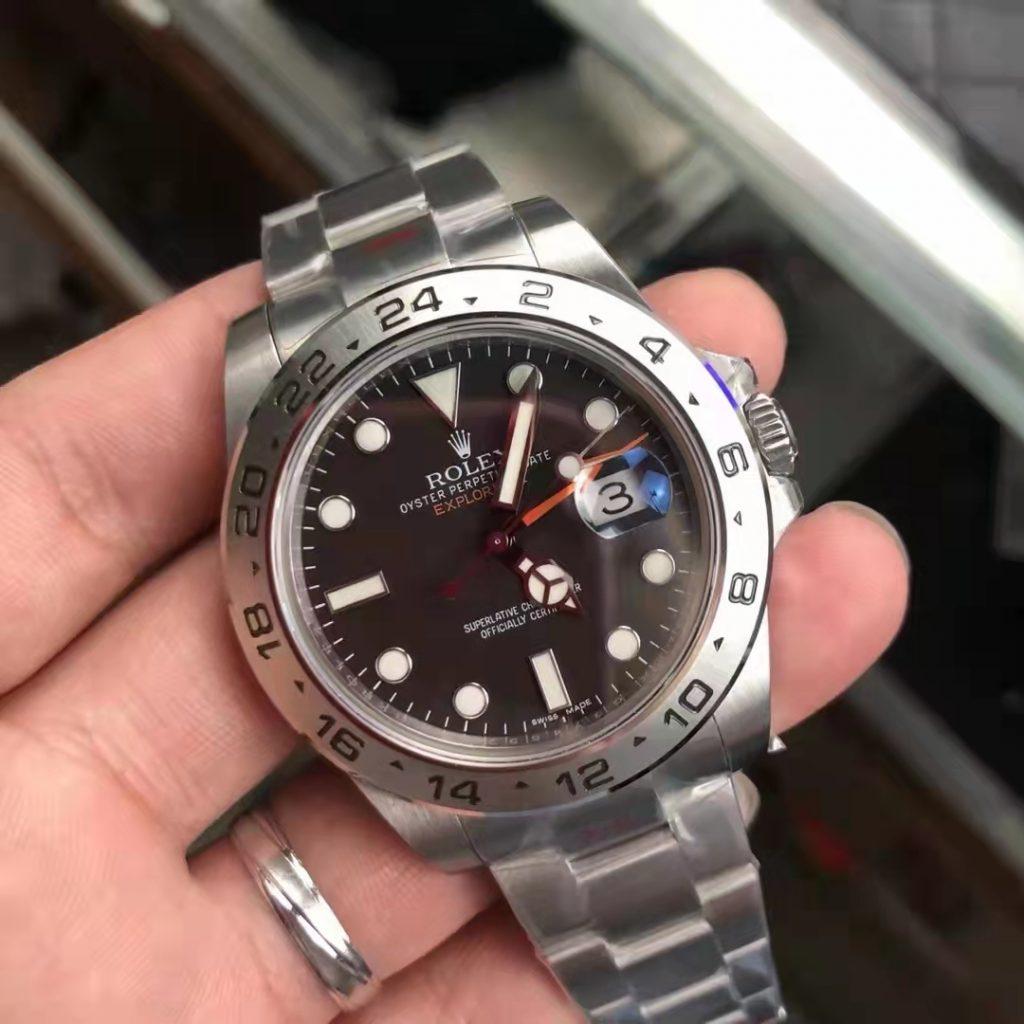 Replica Rolex Explorer II 216570 Black