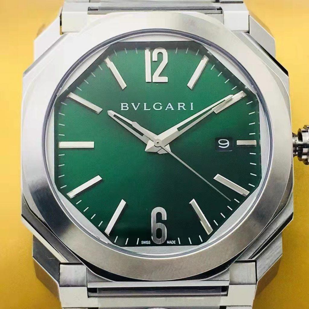 Replica Bvlgari Octo Green Dial