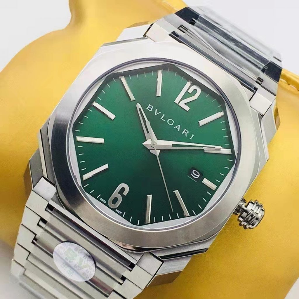 Replica Bvlgari Octo Stainless Steel Green