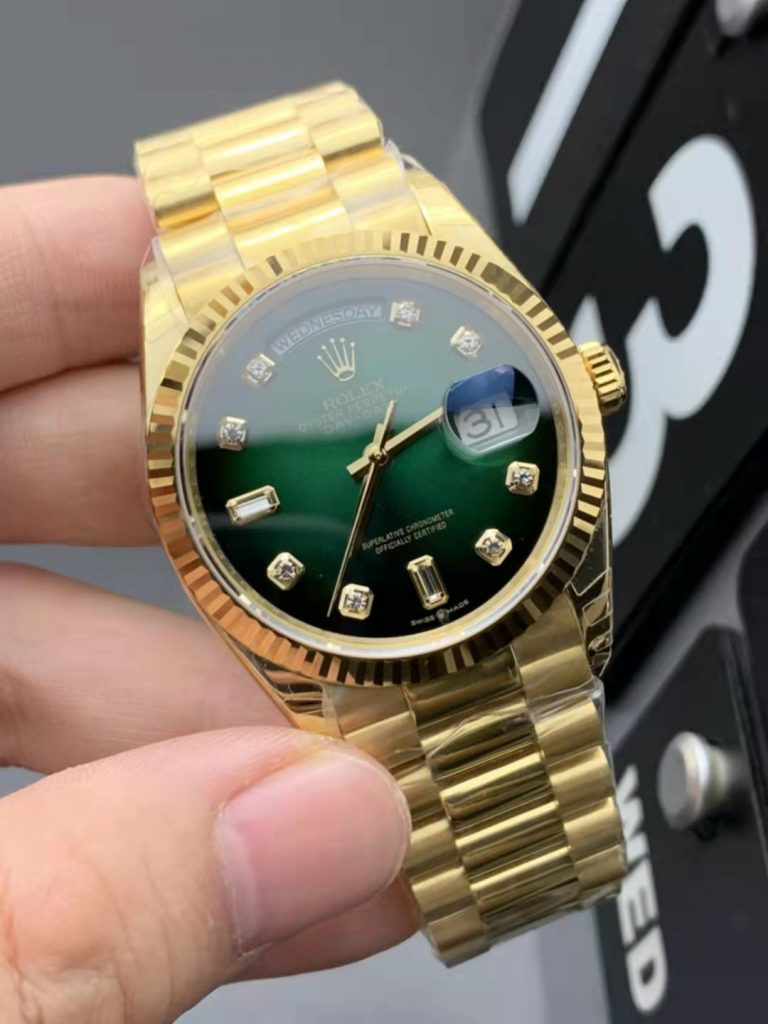 Replica Rolex Day-Date Green Dial